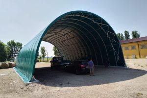 TUNNEL AGRICOLO DA m 12 X 20 COMPLETO DI TELO DI COPERTURA IN PVC 690 GMQ